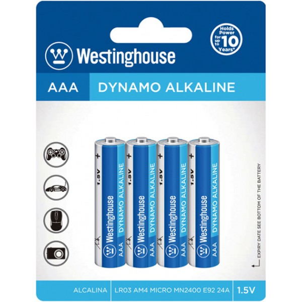 Westinghouse 1.5V AAA Αλκαλικές Μπαταρίες
