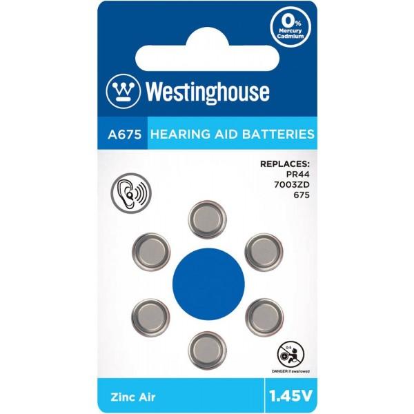 Westinghouse 1.45V A675 Μπαταρίες Ακουστικών Βαρηκοΐας