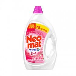 Neomat Total  Άνθη Τριανταφυλλιάς Υγρό Πλυντηρίου 2σε1 75μεζ.