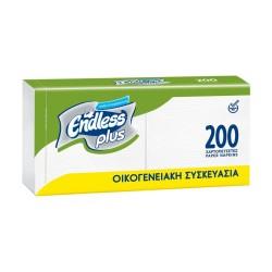 Endless Plus Χαρτοπετσέτες Family Pack Λευκή 30x30 200τμχ