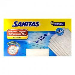 Sanitas Πανάκια Στεγνού Καθαρισμού για Δάπεδα XXL 16τμχ