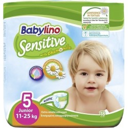 Babylino Sensitive With Chamomile No 5 (11-25kg) 18τμχ