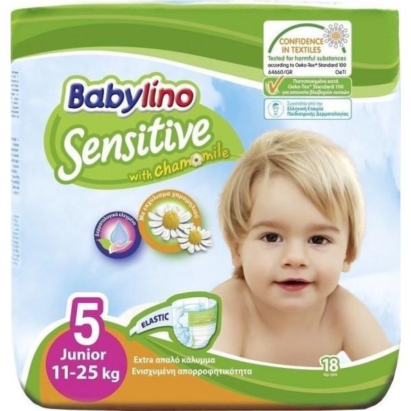 Babylino Sensitive With Chamomile No 5 (11-25kg) 18τμχ