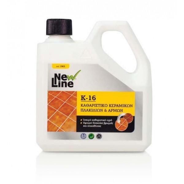 NEW LINE Κ-16 1LT Ισχυρό καθαριστικό υγρό κεραμικών πλακιδίων & αρμών