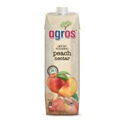 Agros Χυμός Ροδάκινο Νέκταρ 1lt