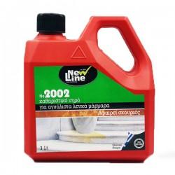 NEW LINE 2002 1lt Καθαριστικό υγρό για αγυάλιστα λευκά μάρμαρα. Αφαιρεί δύσκολους λεκέδες & σκουριές.