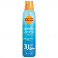Carroten Aquavelvet Ενυδατικό Αντηλιακό Γαλάκτωμα Spray SPF30 200ml.