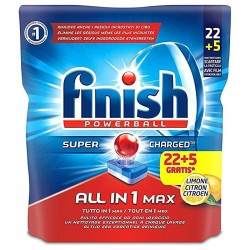 Finish All in One Max Lemon Ταμπλέτες Πλυντηρίου Πιάτων 22+5tabs