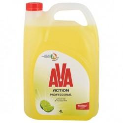 Ava Υγρό Απορρυπαντικό Πιάτων Ξύδι & Lime 4L