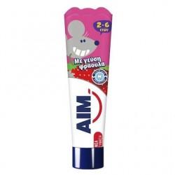 Aim Με Γεύση Φράουλα  2-6 Ετών 50ml