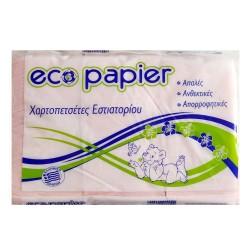 Eco Papier Χαρτοπετσέτες Εστιατορίου 24*24 600 Φύλλα