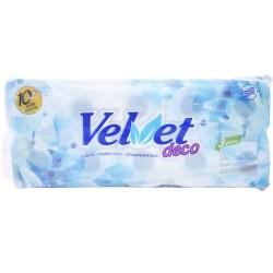Velvet Deco Χαρτί Υγείας 10 ρολά 3φυλλα