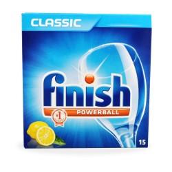 Finish All in One Tabs Lemon Ταμπλέτες πλυντηρίου Πιάτων 15tabs