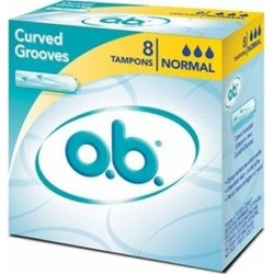 O.B. Original Curved Grooves Normal 8τμχ