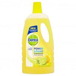 Dettol Power & Fresh Lemon Γενικής Χρήσης 1lt